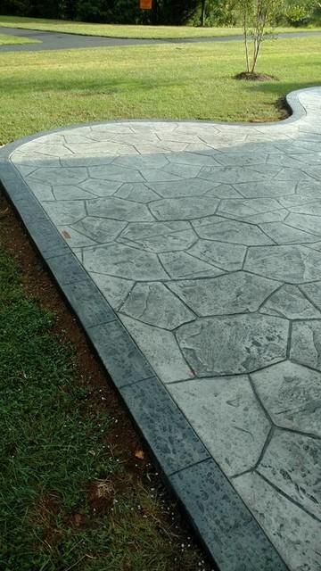 c stamped concrete patio klassisch