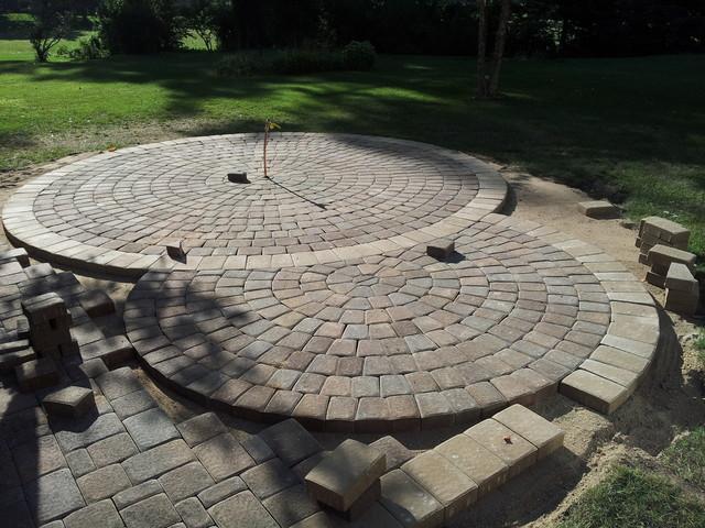 circular paver patio modern patio