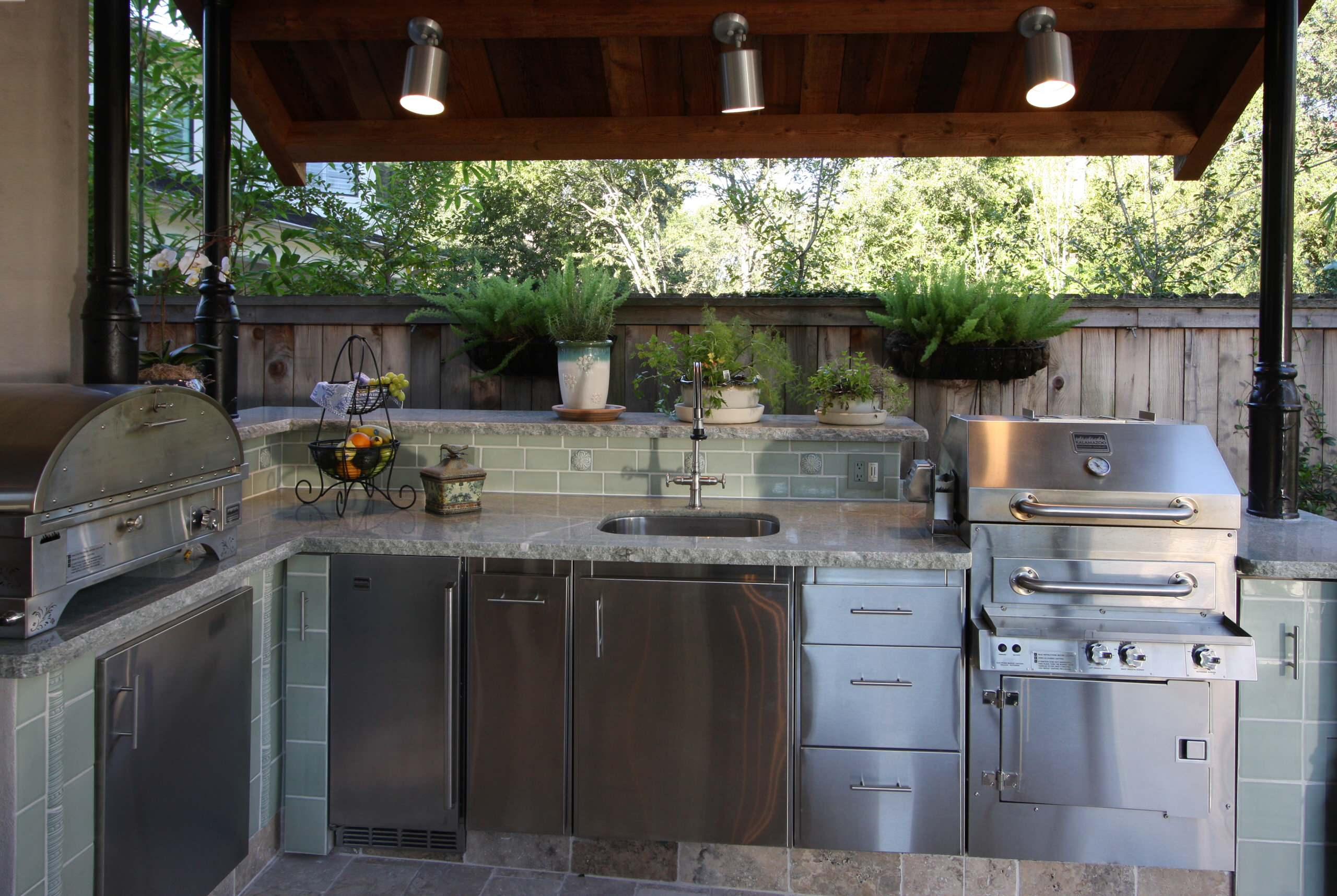 outdoor kitchen lighting houzz