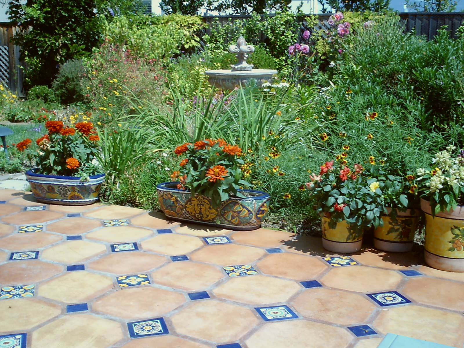 terracotta tile patio houzz