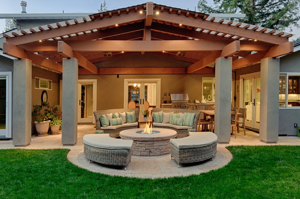 los altos covered patio traditional