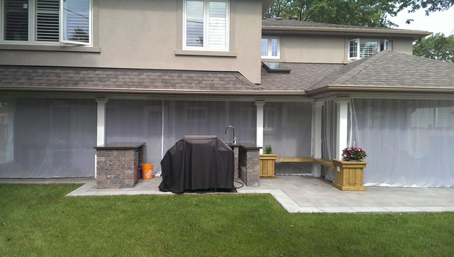 outdoor curtains mosquito drapes porch