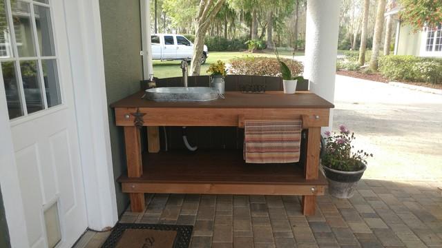 outdoor garden sink workstation