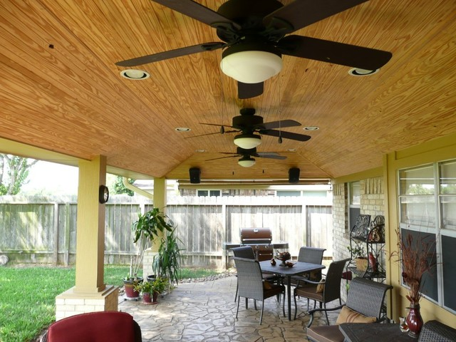 patio cover ceiling options rustic