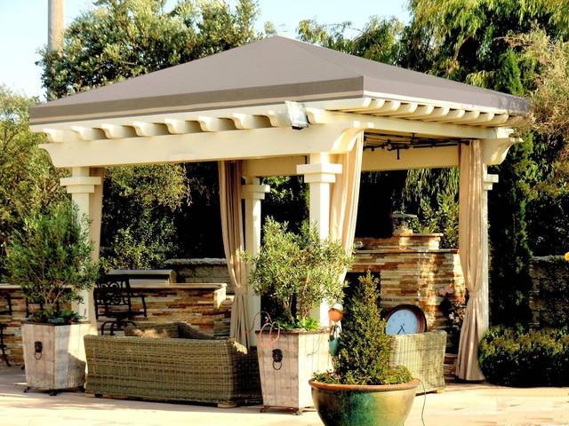 pergola roof traditional patio