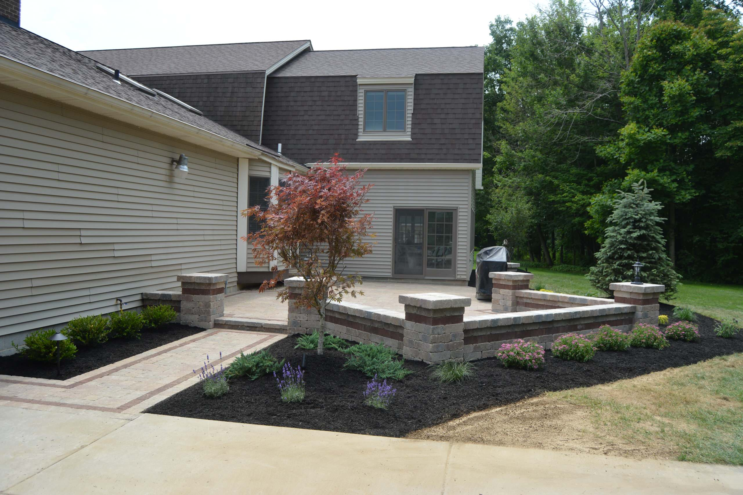 front yard brick patio pictures ideas