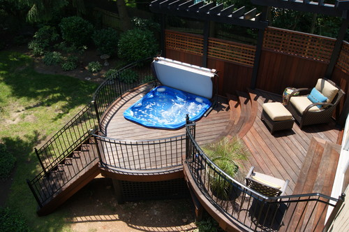 35 hot tub deck ideas and designs with