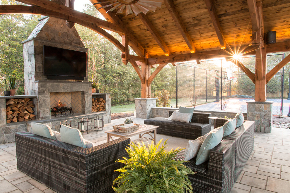 https www houzz com photos timber frame outdoor kitchen dining and family room traditional patio dc metro phvw vp 142863437