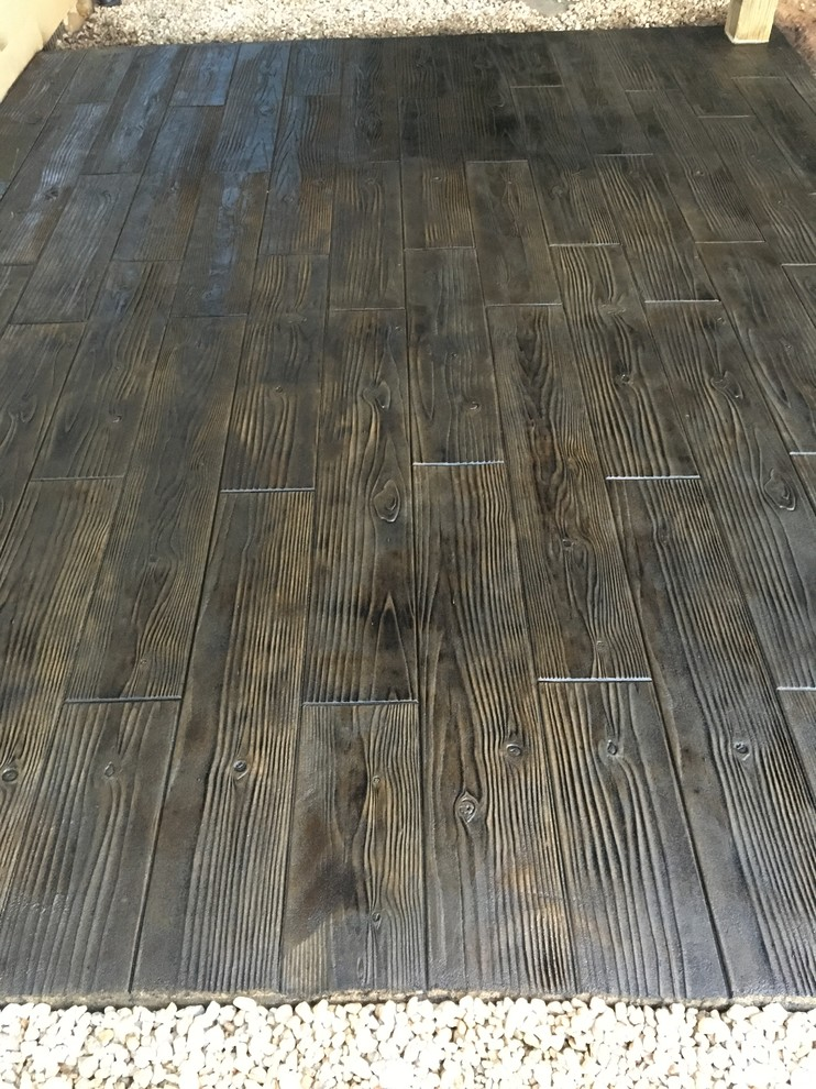wood stamp patio patio other by
