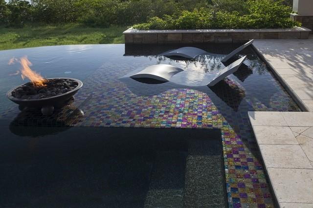 lightstreams glass spa tile black