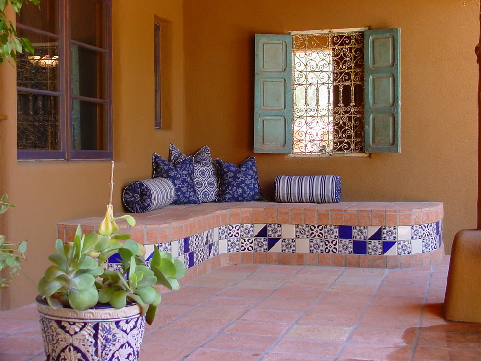mexican tile and stone porch