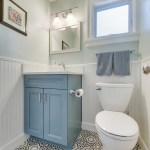 75 Beautiful Powder Room With Blue Cabinets Pictures Ideas February 2021 Houzz