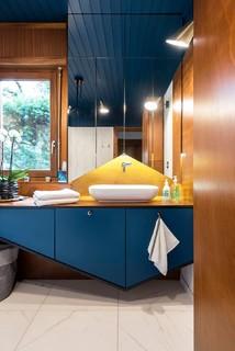 salle de bain bleue photos et idees