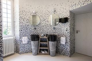 idees de carrelage de salle de bain zen