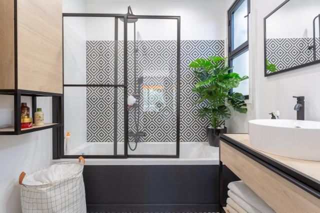 salle de bain moderne carrelage