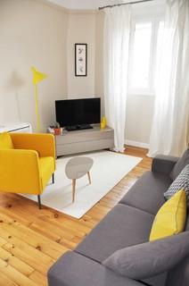 salon gris et jaune photos et idees