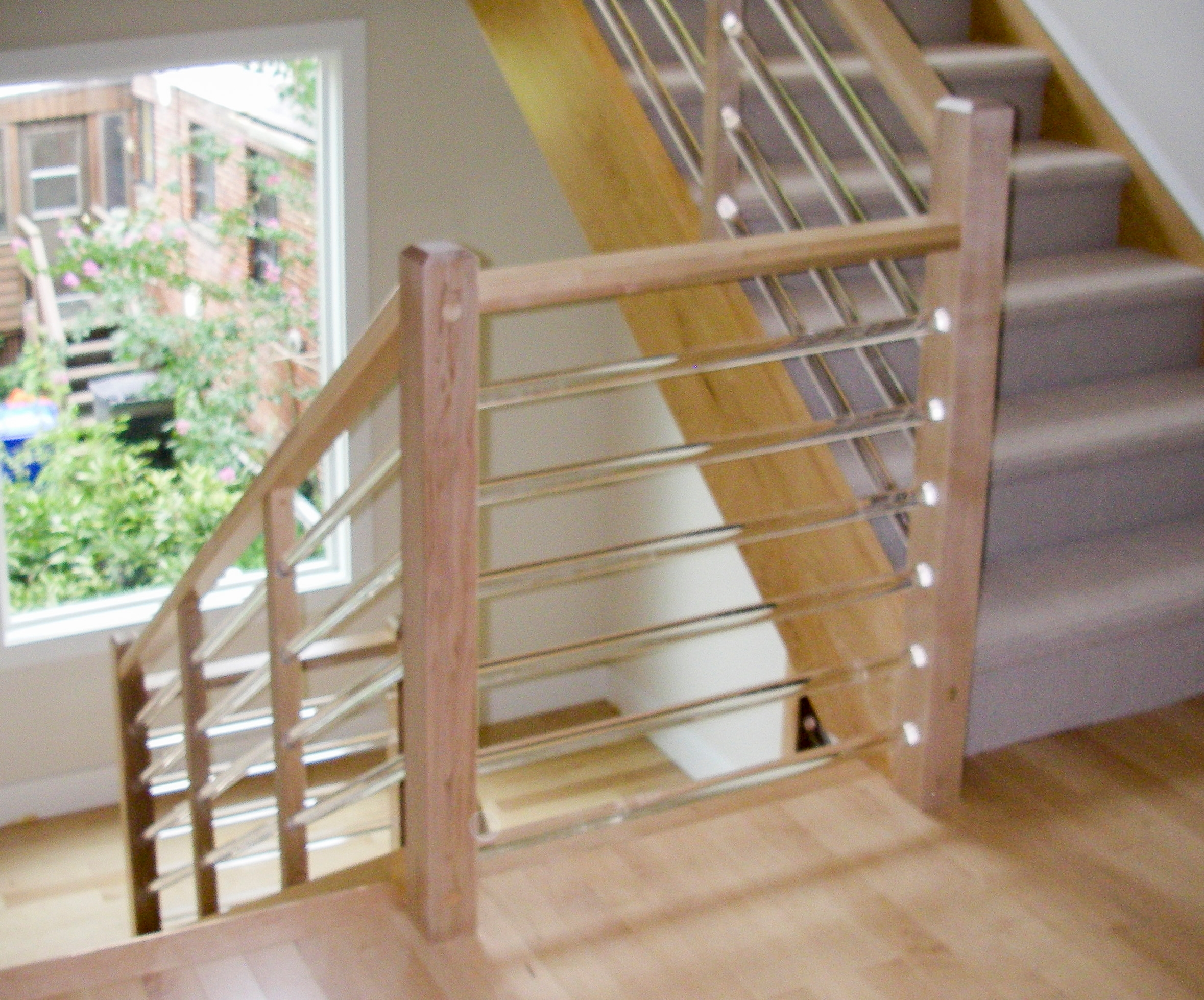 Clear Acrylic Staircase Ideas Photos Houzz   Clear Handrails For Stairs   Steel   Clear Acrylic   Wood   Riser   Metal