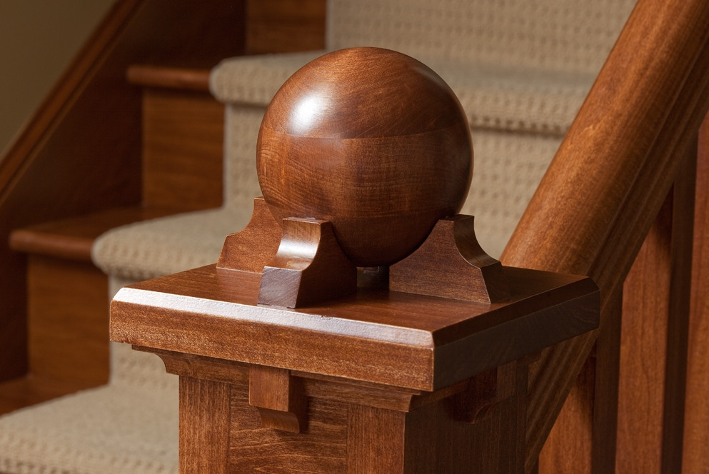 Newel Post Cap Ideas Houzz | Newel Post Cap Designs | White Oak | Decorative | Strong | Porch | Diy