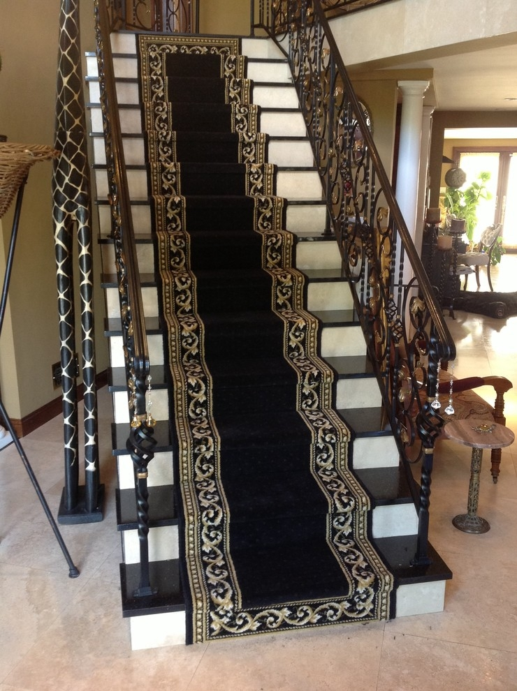 Custom Fabrication Of Roll Runners Traditional Staircase New | Roll Runners For Stairs | Carpet Stair Treads | Kurdamir | Area Rugs | Flooring | Carpet Runner