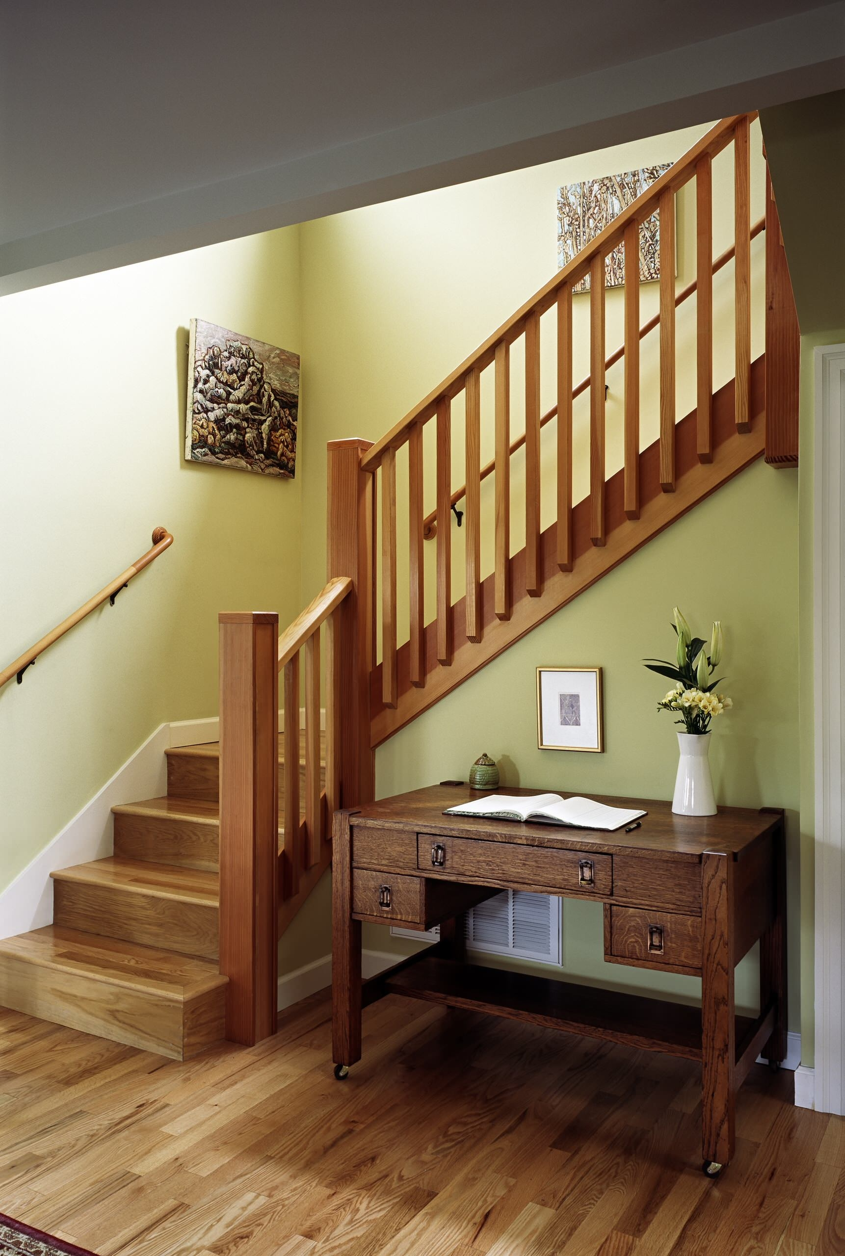 Two Story House Staircase Ideas Photos Houzz | Stair Room Front Design | 3Rd Floor | Residential | 100 Sq Meter House | Hall | Small Space