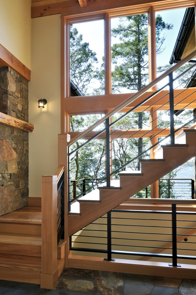 Orcas Island Residence Rustic Staircase Seattle By | Staircase Exterior Wall Design | Commercial | Entrance Ceiling | Interior | Modern | Boundary Wall
