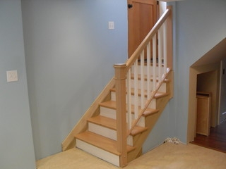 Removable Handrail Traditional Staircase Portland By | Detachable Banister And Stair Hand Railing | Stair Case | Half Wall | Modern | Traditional | Mezzanine
