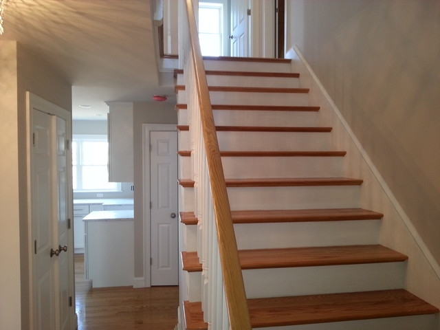 Small Lot 3 Level Beach House Beach Style Staircase Boston | Staircase For Small House | Internal | Popular | Tiny House | Concrete | Diy