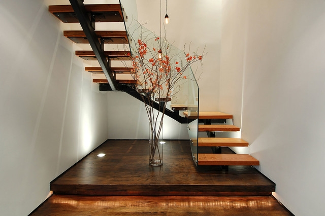 Soho Duplex Industrial Staircase New York By Raad Studio | Duplex House Steps Design | New | Cement | Wood | Spiral Staircase | Steel