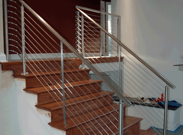 Stair Cable Railing Modern Staircase Other By Ultra Tec® | Modern Cable Stair Railing | Entry Foyer | Staircase Remodel | Stair Treads | Glass Railing | Deck Railing