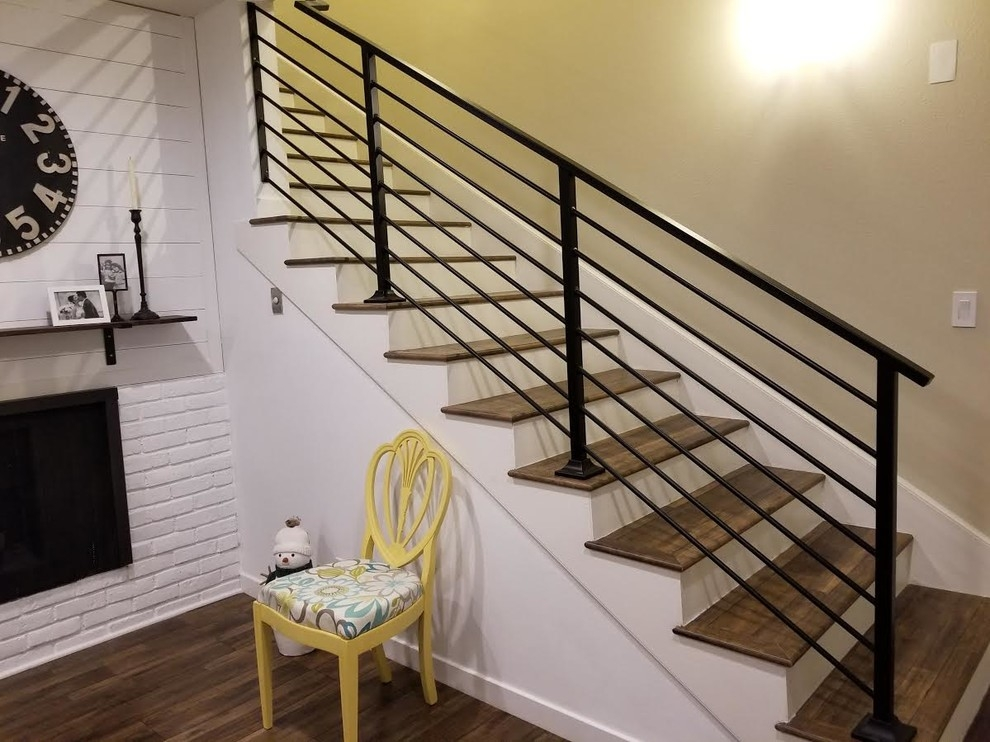 Staircase Railing In Torrance Craftsman Staircase Orange | Pacific Stairs And Railings | Architecture | Wire Mesh | Cad | Casey Brown | Modern Staircase