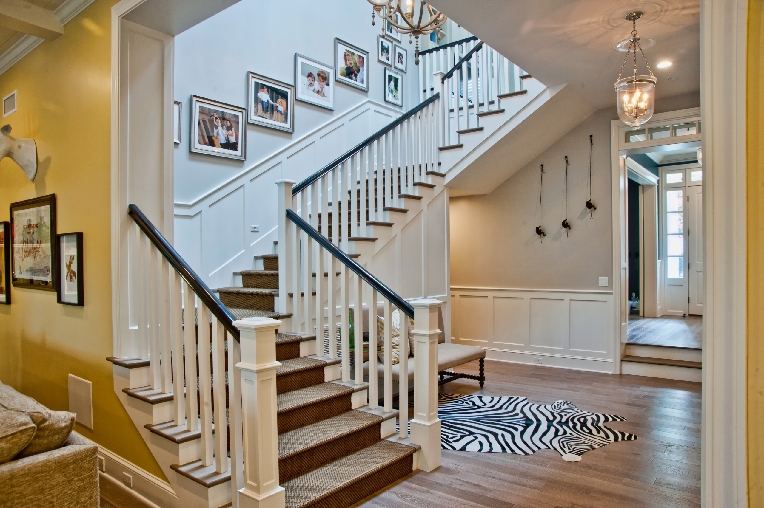 Exterior Front Elevation Staircase Houzz | House Design With Stairs In Front | Victorian | Second Floor | Colour | Residential | Low Cost 2 Bhk House