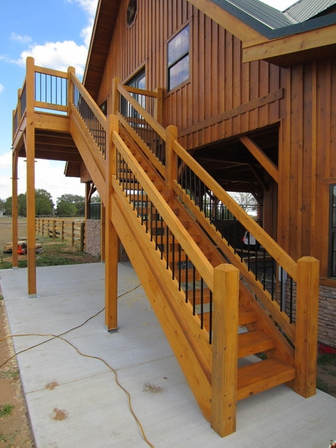 Timber Stair Rail Contemporary Staircase Tampa By   Outdoor Timber Stairs Design   Pinterest   Outside Entrance Stair   Basic Outdoor   Different Style   Rustic Timber