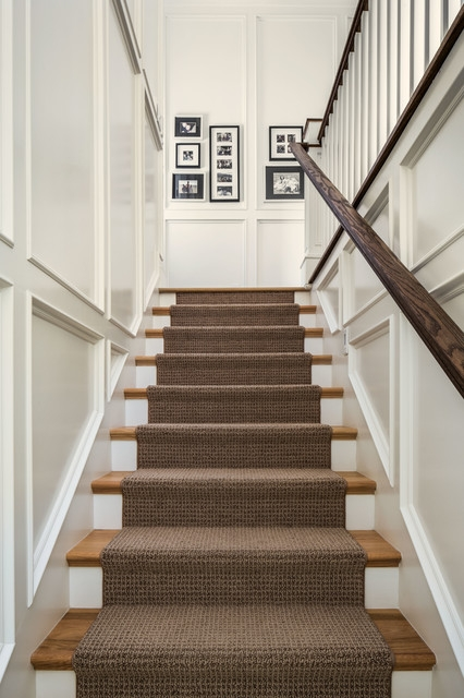 The Upstairs Downstairs Connection Picking The Right Stair Treatment | Flooring For Stairs Not Carpet | Stair Tread | Stain | Staircase Makeover | Bullnose Carpet | Laminate Flooring