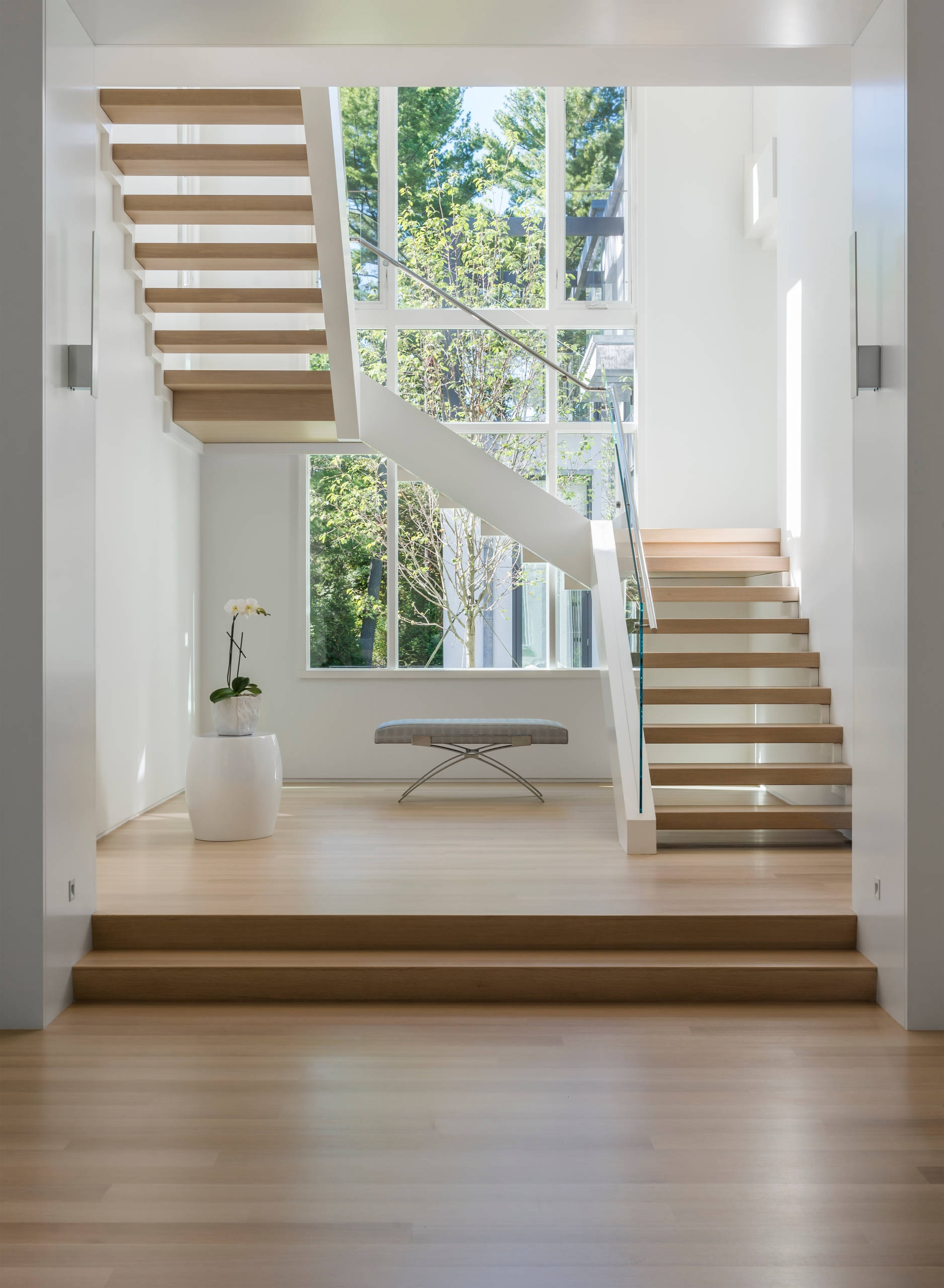 75 Beautiful U Shaped Staircase Pictures Ideas September 2020 | Double L Shaped Staircase Design | Limited Space | Space Saving Stair | Inner Staircase | Traditional | 90 Degree