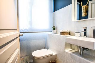 wc et toilettes avec carrelage