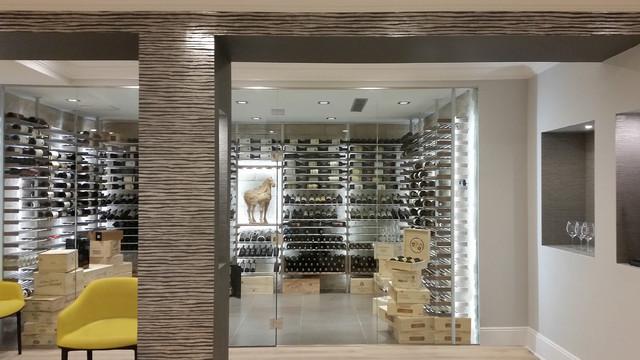 millesime wine rack in the wine cellar