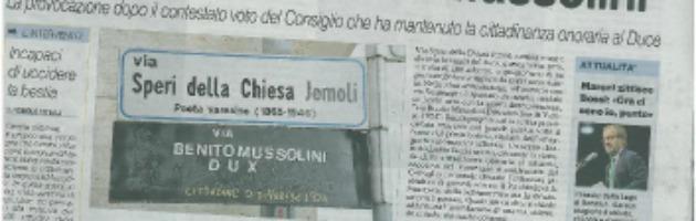 Varese, provocazione dopo la cittadinanza a Mussolini: via intitolata al Duce