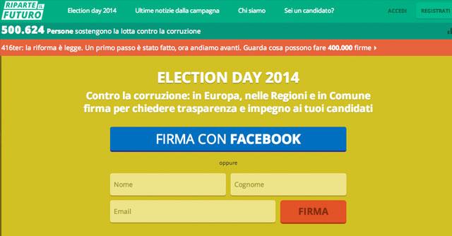 """""""Riparte il futuro"""", 500mila firme contro la corruzione per Libera e gruppo Abele"""