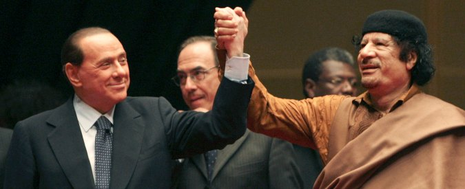 Libia Berlusconi Gheddafi