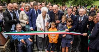 """Milan, Senator Liliana Segre inaugurates the new Giardino dei Giusti: """"They chose not to be indifferent, they are a gift from humanity"""""""
