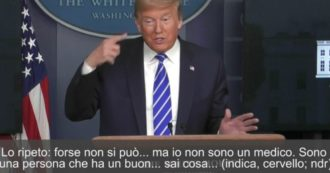"""Coronavirus, Trump e la """"cura"""" con il sole: """"Non è la prima volta che sento dire che ha effetti sui virus. Non sono medico ma…sarebbe fantastico"""""""