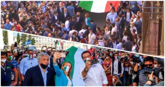 June 2, crowd and gatherings: in Rome the center-right demonstration becomes a procession without rules - THE PHOTOS
