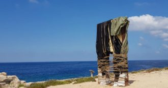 Lampedusa, scarred the Gate of Europe, the monument to the welcome and the dead at sea. Mayor Martello: