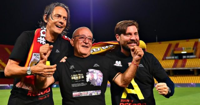 Benevento promosso in Serie A, Pippo Inzaghi centra l'obiettivo con 7 turni d'anticipo: record