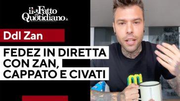 Omotransfobia, Fedez in diretta col deputato Alessandro Zan, Marco Cappato e Pippo Civati