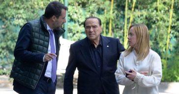 """Nel centrodestra tregua con vista sul Colle, Berlusconi vede Salvini e Meloni: """"Compatti e preparati per elezione del capo dello Stato"""""""