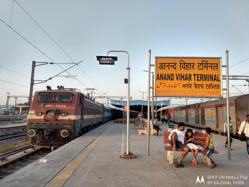 Image result for anand vihar railway station