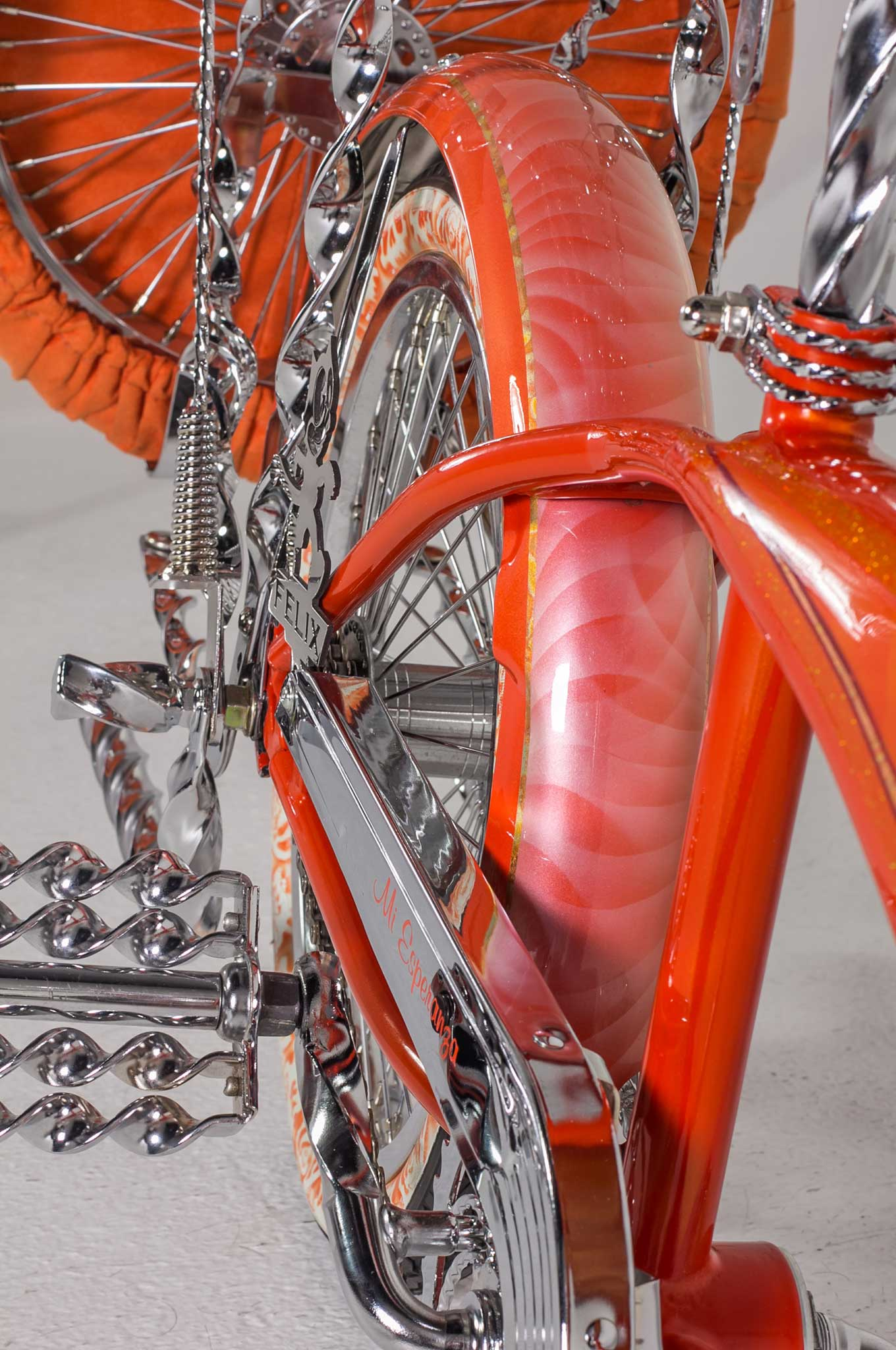 Bike Frame Orange Gold Candy And