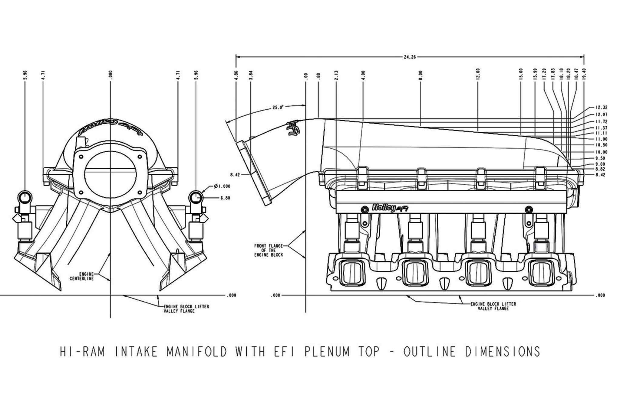 Holley Ls Engine Accessories Ls Hi Ram Efi Manifold
