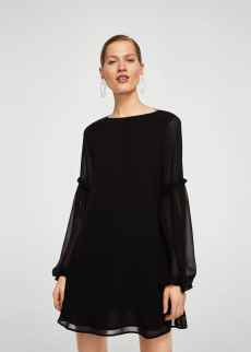 Ruffled sleeve dress | MANGO